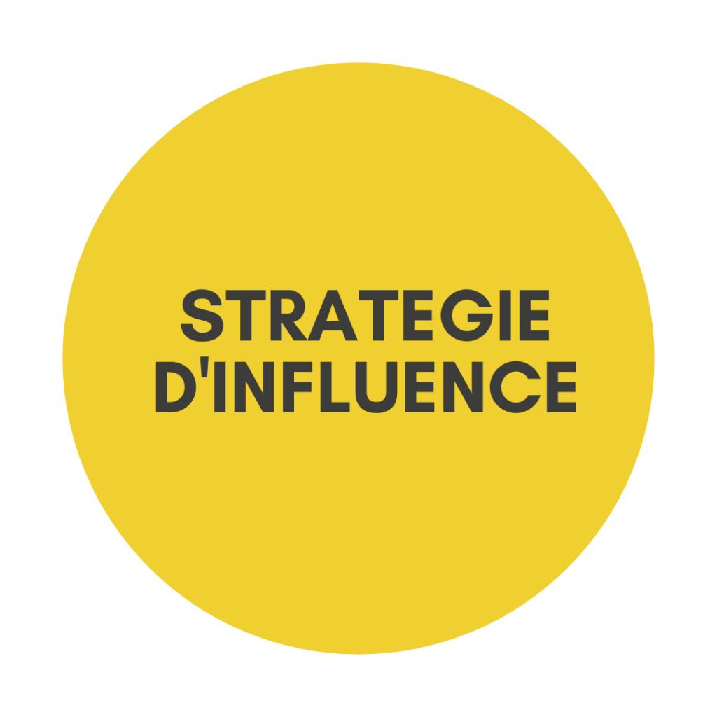 Stratégie communication influence